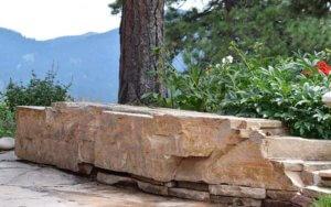 Boulder on a Patio | Boulder Installation Evergreen